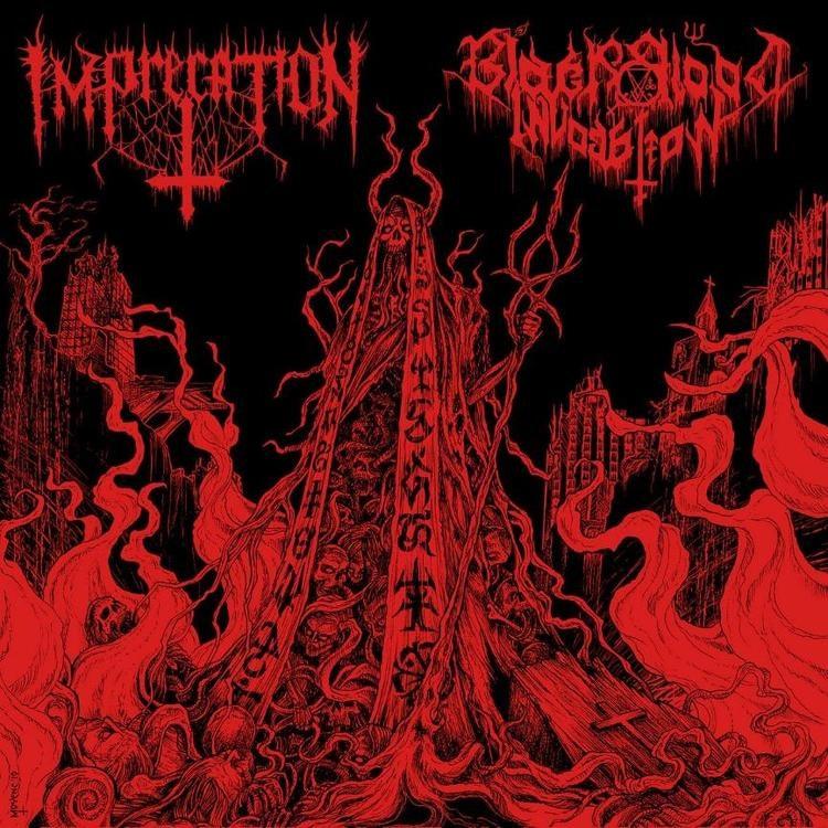 """Imprecation / Black Blood Invocation - Diabolical Flames of the Ascended Plague (LP 12"""" Split Ltd.)"""