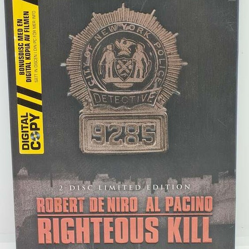 Righteous Kill [2-Disc Limited Edition, Steelbook] (Beg. DVD)
