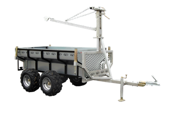 Funktionell kombivagn med flak och kran