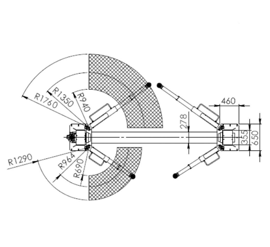 2-Pelarlyft 5T - REDATS L-280 - Automatisk