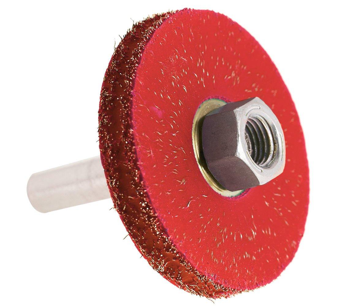 Stålborste 50x7mm med PVC-hål 3/8 + Adapter
