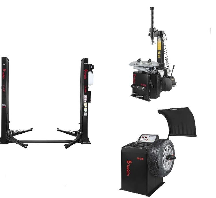 Verkstadspaket Lyft L-230, Däckmaskin M-120 och Balansmaskin W-210
