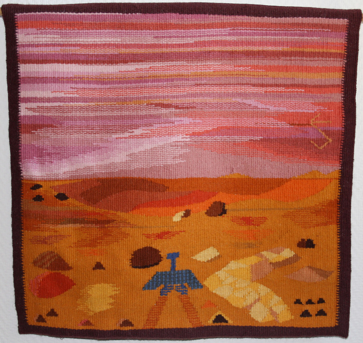 Bonnevillekratern observerades och fotograferades av Marsströvaren Spirit, främst i bilden.