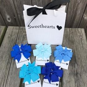 Sweethearts Hårrosetter - Presentkit Blå