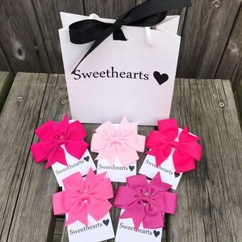 Sweethearts Hårrosetter - Presentkit Rosa
