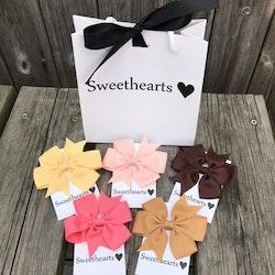 Sweethearts Hårrosetter - Presentkit Retro