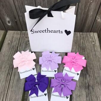 Sweethearts Hårrosetter - Presentkit Lila
