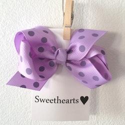 Hårrosett Polkadot - Sweethearts Classic LAVENDEL