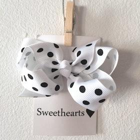 Hårrosett Polkadot - Sweethearts Classic VIT