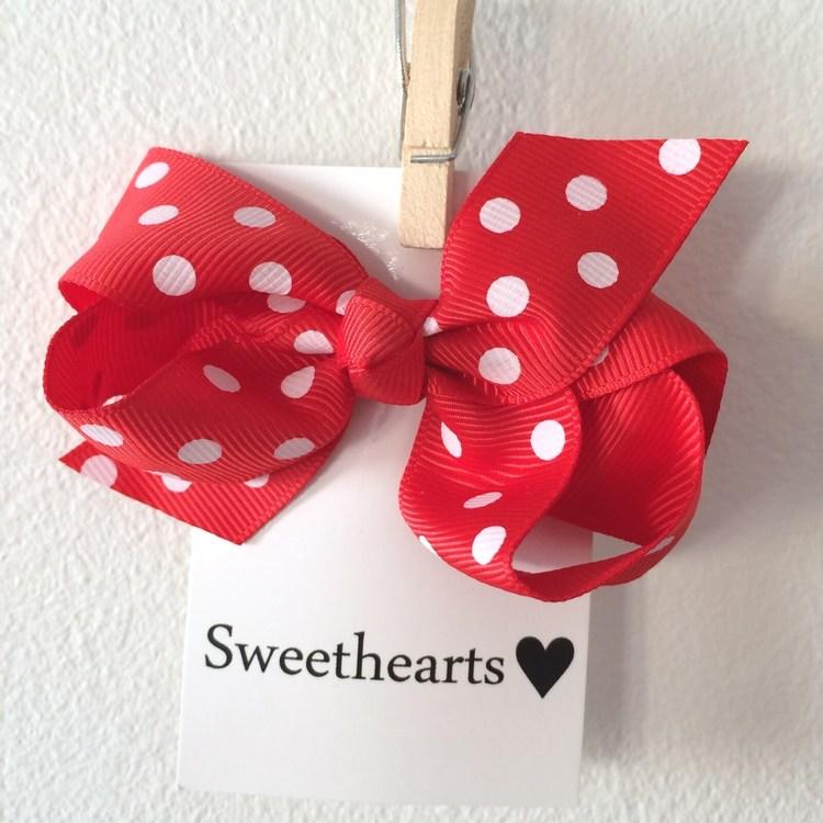 Hårrosett Polkadot - Sweethearts Classic RÖD