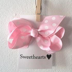 Hårrosett Polkadot - Sweethearts Classic LJUSROSA