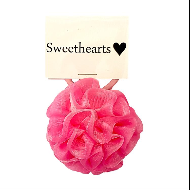 Hårsnodd Sweethearts Pompom ROSA