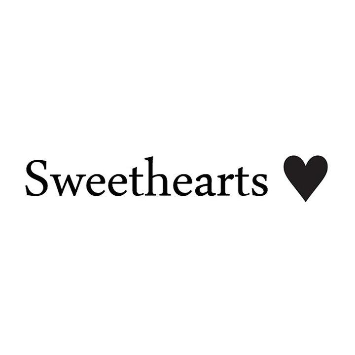 Hårrosett small - Sweethearts Classic MÖRKRÖD