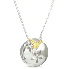 """Silverhalsband """"Bring me Spring"""" Sphere of Life"""