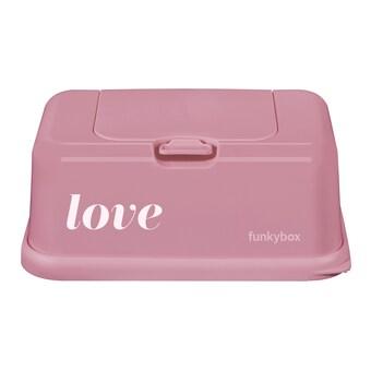 Funkybox förvaringsask för våtservetter Love