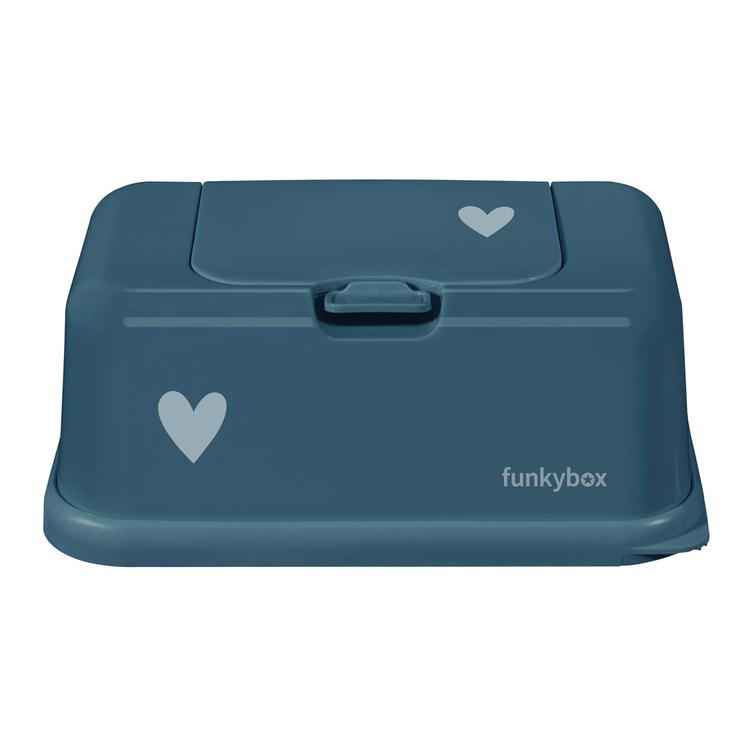 Funkybox förvaringsask för våtservetter Petrol Heart