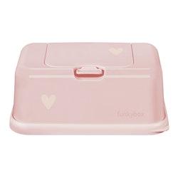 Funkybox förvaringsask för våtservetter Pale Pink Heart