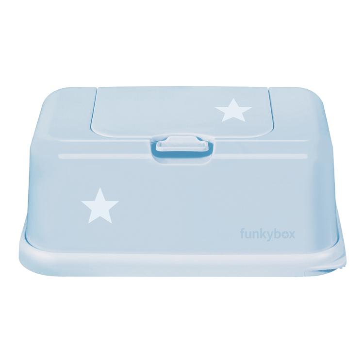 Funkybox förvaringask för våtservetter Pale Blue Star
