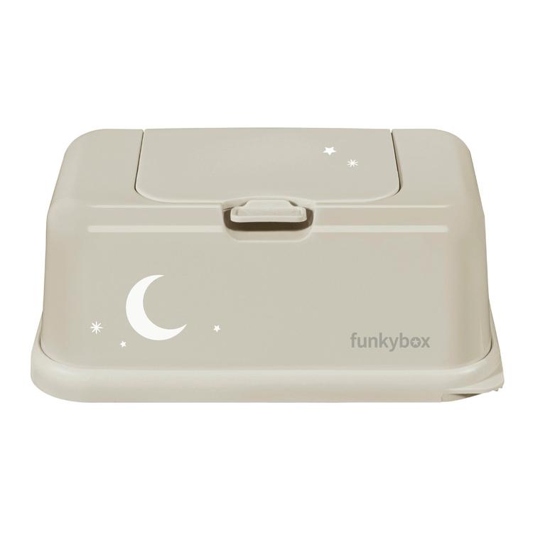Funkybox förvaringsask för våtservetter KAKI MÅNE