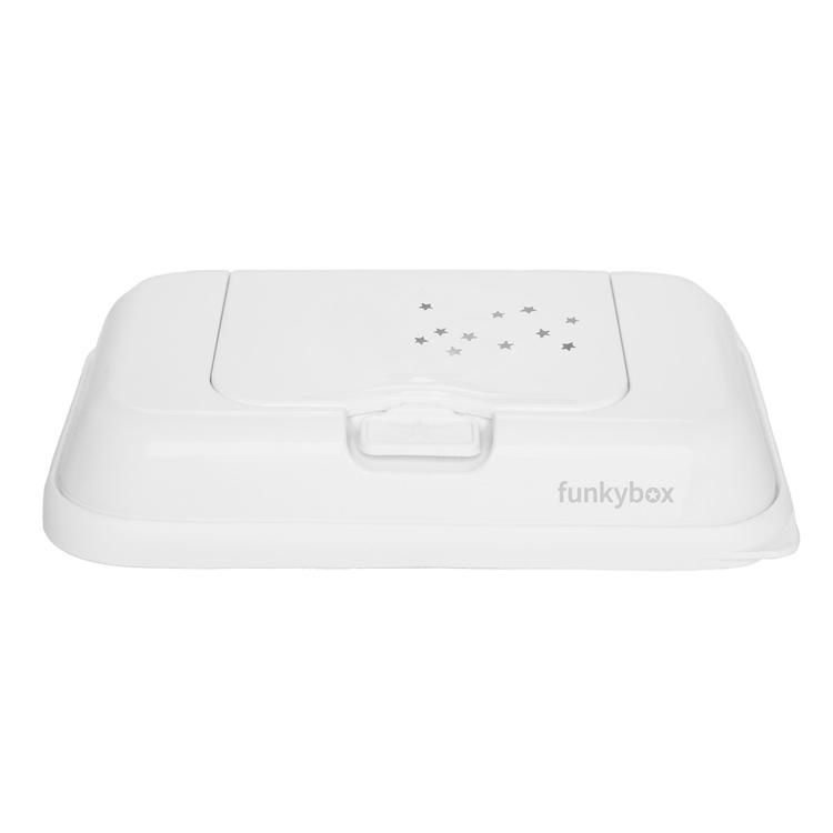 Funkybox ToGo förvaringsask för våtservetter White Little Stars