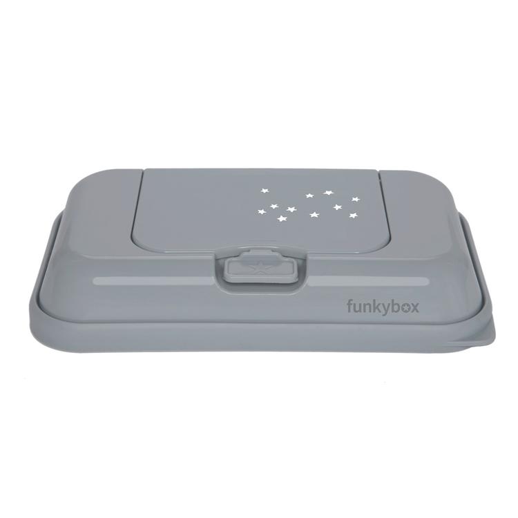 Funkybox ToGo förvaringsask för våtservetter Grey Little Stars