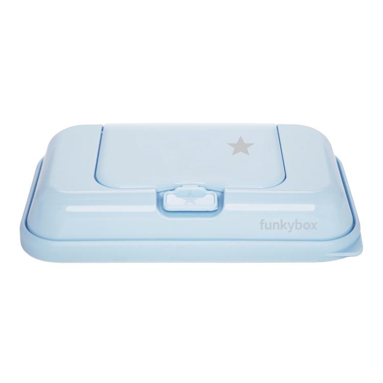 Funkybox ToGo förvaringsask för våtservetter Pale Blue Star