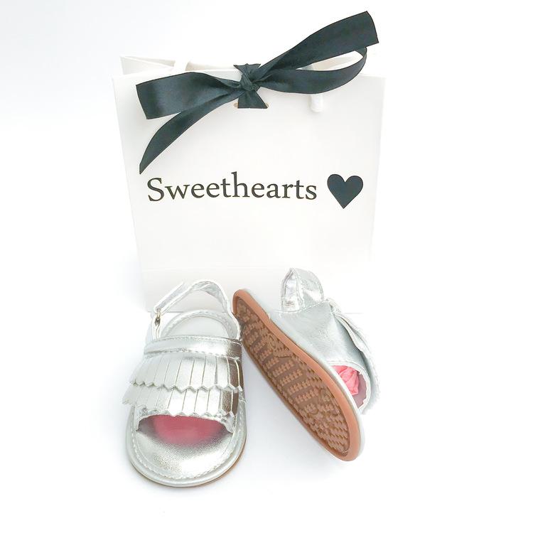 Babysko Sweethearts babysandal SILVER