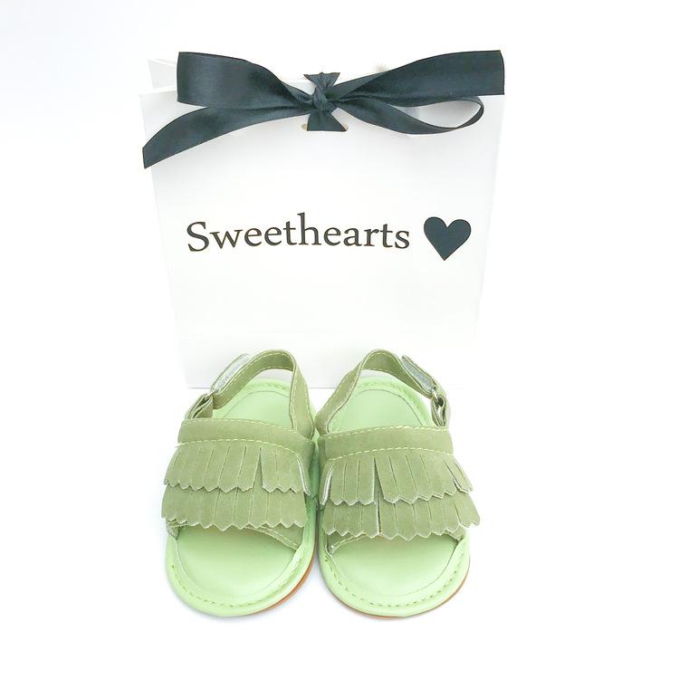 Babysko Sweethearts babysandal GRÖN