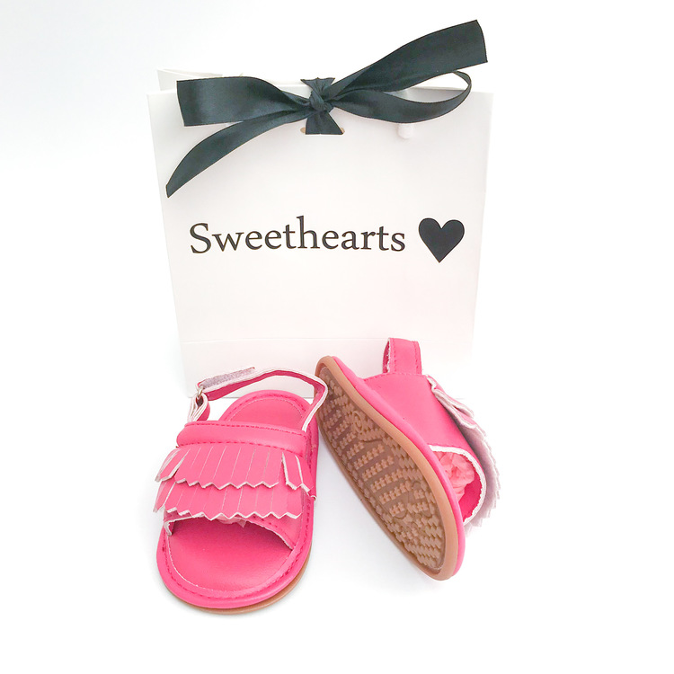 Babysko Sweethearts babysandal CERISE