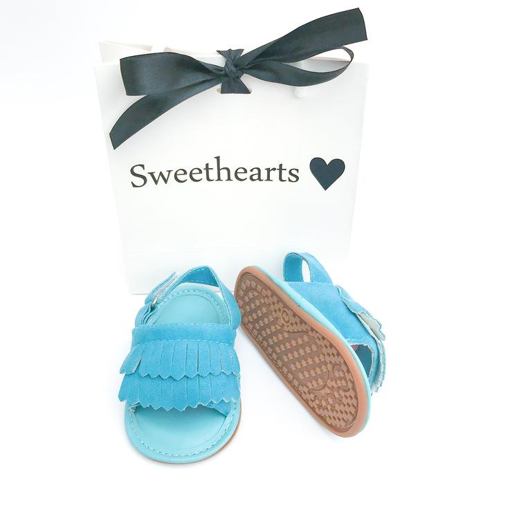 Babysko Sweethearts babysandal BLÅ