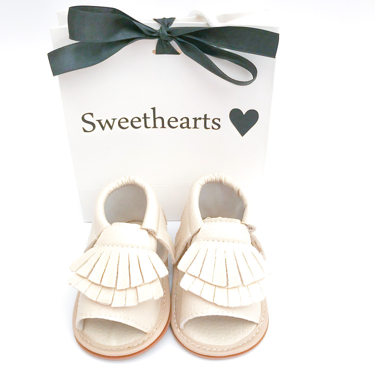 Babysko Sweethearts sommarsko CREME