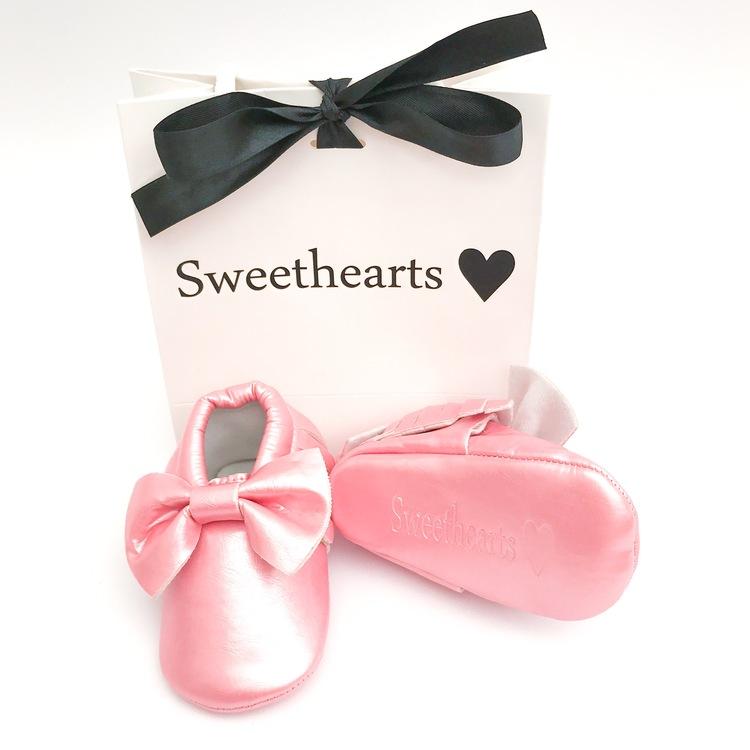 Babysko Sweethearts Bow METALLIC ROSA