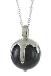 """Silverhalsband """"Melting Moments BLUE"""" Sphere of Life"""