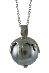 """Silverhalsband """"Melting Moments - You melt my heart"""" GREY Sphere of Life"""