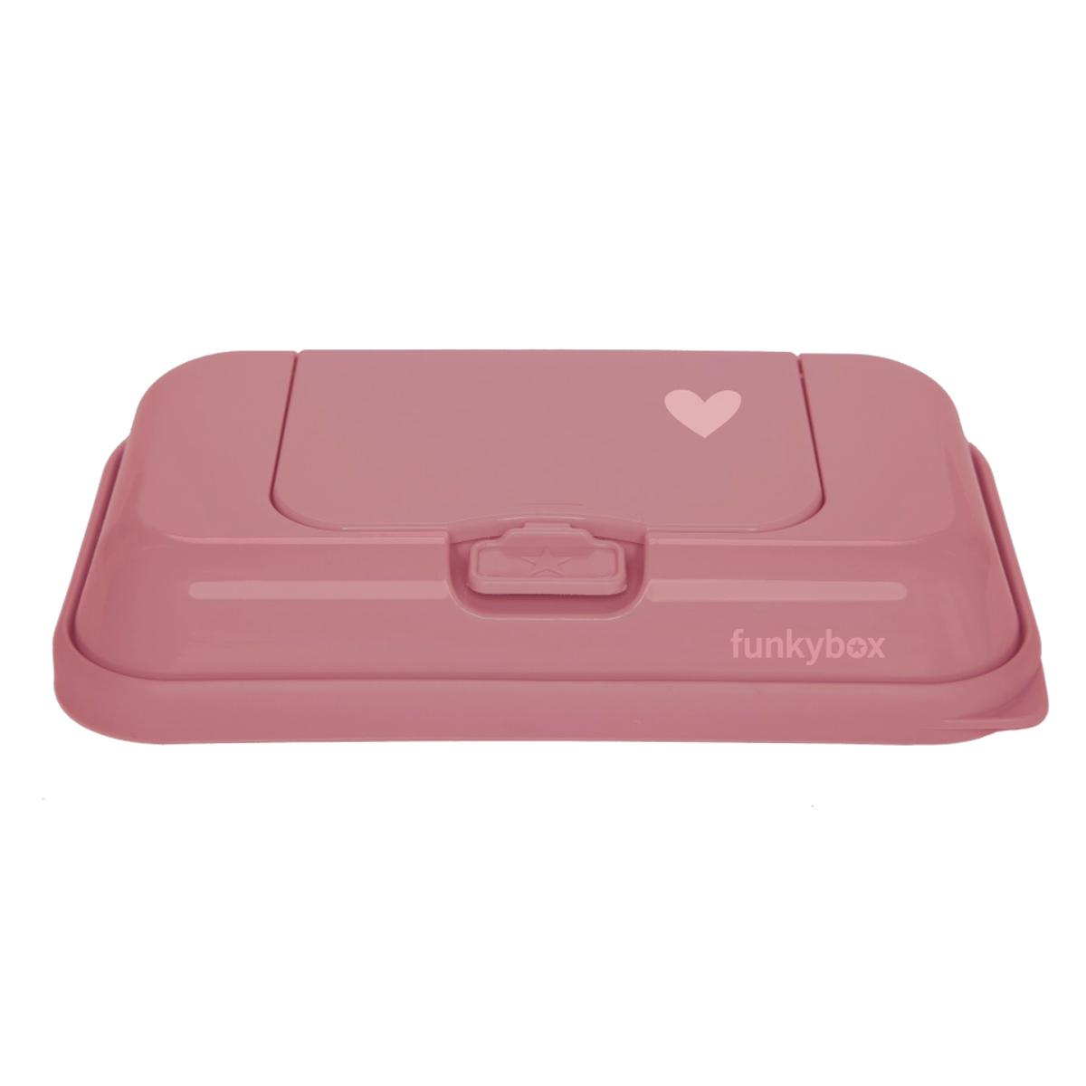 Funkybox ToGo förvaringsask för våtservetter Dark Pink Heart