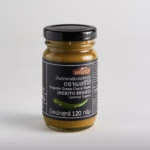 MeritO Organic Vegan Green Chili Paste  120gx3 pcs
