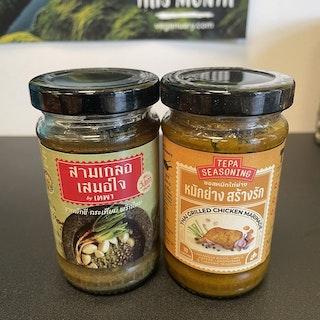Thai Magic Cooking Paste keto +Thai Grilled Chicken Marinate  ( สามเกลอเสมอใจ +  ซอสหมักไก่ย่างรถเข็น tepa seasoning ) สูตรคลีน)
