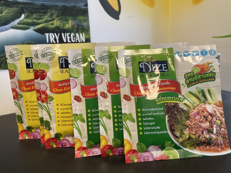Nize seasoning - Thai salad ( Yum Jeed jard ) สูตรคลีน + Nize Seasoning - Laab isaan ( สูตรคลีน )