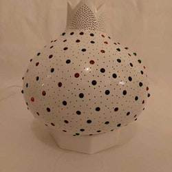 Kalebass lampa - Stjärnhimmel