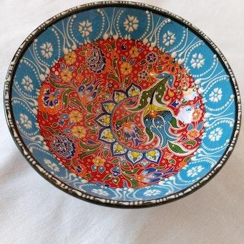 Keramik skål - Ljusblå 20 cm diameter