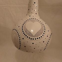 Kalebass lampa - Hjärtat