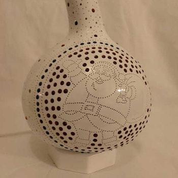 Kalebass lampa - Jultomte