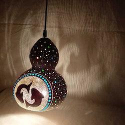 Kalebass lampa - Fisken
