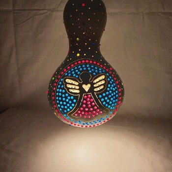 Kalebass lampa - Ängeln
