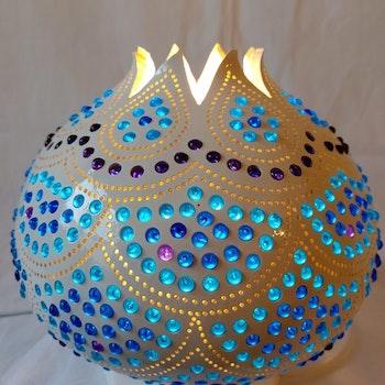 Kalebass lampa - Ocean