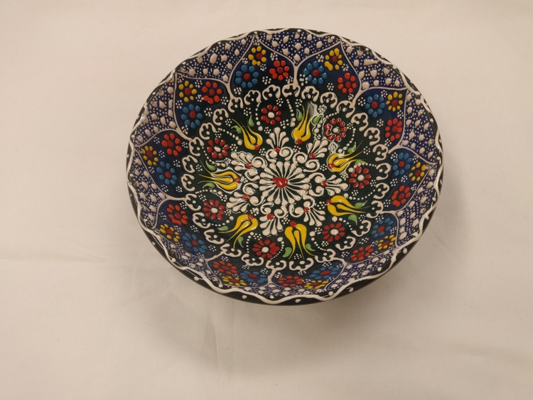 Keramik skål - Mörkblå 20 cm