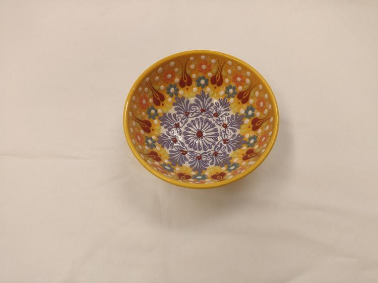 Keramik skål - Gul 12 cm