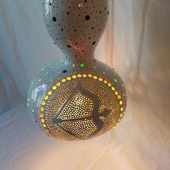 Kalebass lampa - Skytten