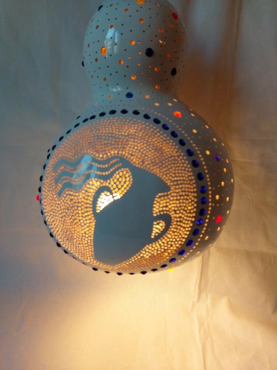 Kalebass lampa - Vattumannen