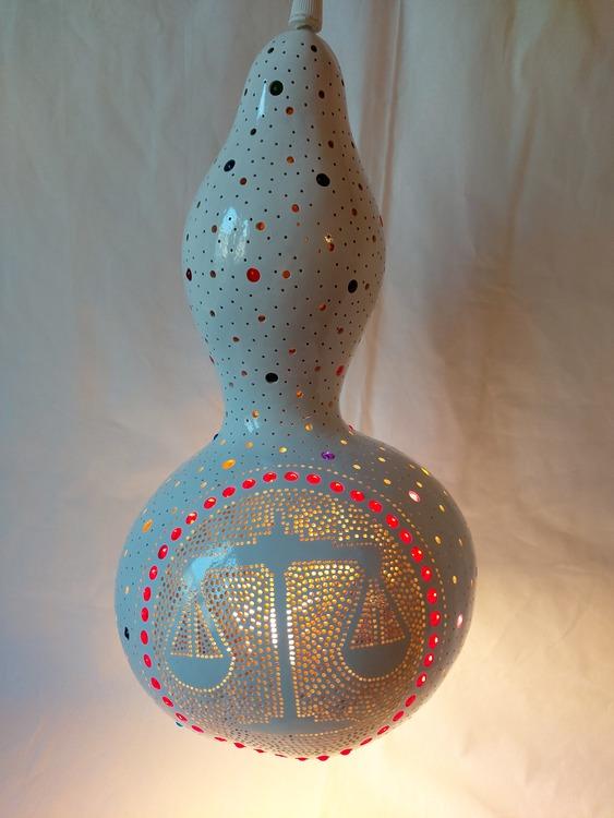 Kalebass lampa - Vågen
